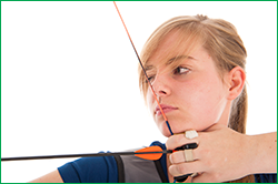 Girl Shooting a Bow