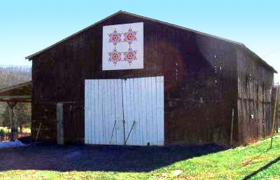 Barn with quilt square