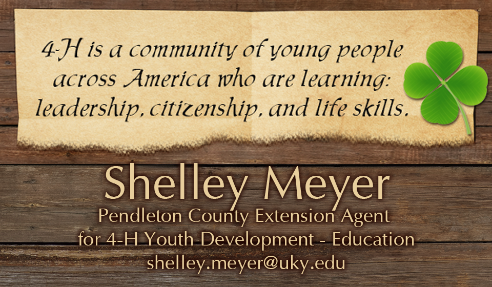 4-H Agent Shelley Meyer